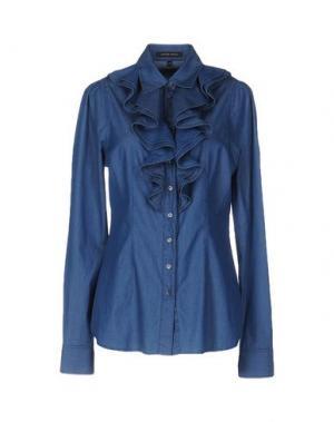 Джинсовая рубашка WALTER VOULAZ. Цвет: синий