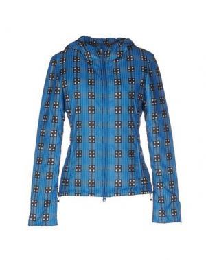 Пуховик BPD BE PROUD OF THIS DRESS. Цвет: лазурный