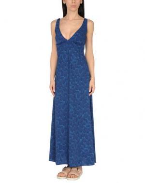 Пляжное платье SIYU. Цвет: темно-синий