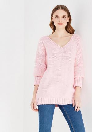 Пуловер Knitted Kiss. Цвет: розовый