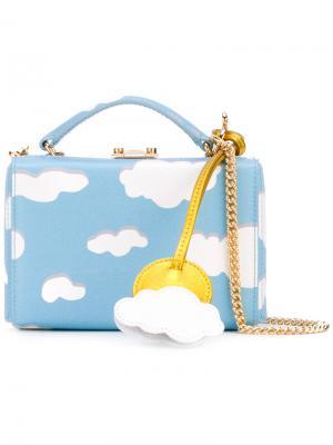Мини сумка на плечо Grace Mark Cross. Цвет: синий