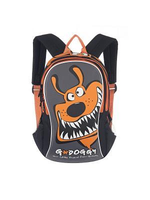 Рюкзак Grizzly. Цвет: оранжевый, серый, черный