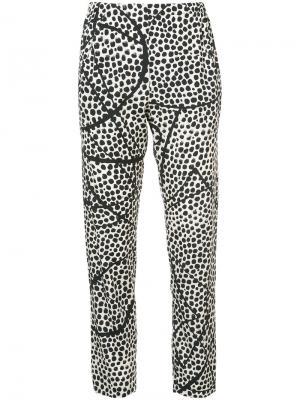 Printed slim fit trousers Zero + Maria Cornejo. Цвет: белый