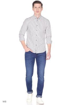 Рубашка Sisley. Цвет: серый, серебристый