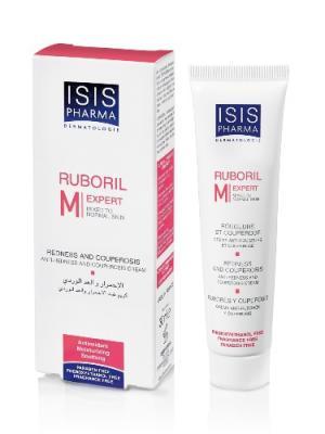 Руборил M крем для нормальной и смешанной кожи лица, склонной к розацеа, покраснениям, куперозу ISISPHARMA. Цвет: бежевый