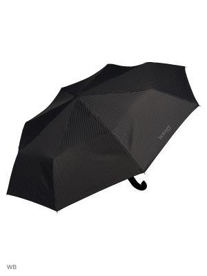 Зонт Isotoner. Цвет: черный, серый