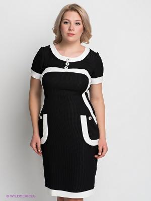 Платье VERDA. Цвет: черный, белый