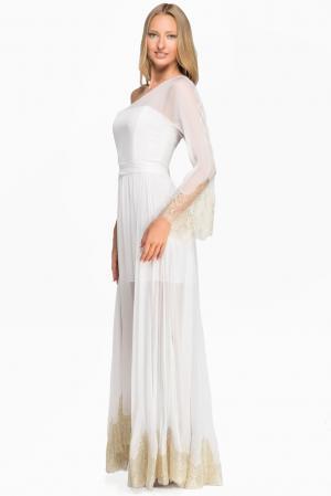 Платье из шелка 125742 Lolita Shonidi. Цвет: белый