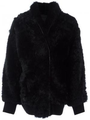 Пальто с лацканами-шалька Drome. Цвет: чёрный