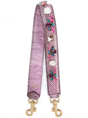 Плечевой ремень с блестящей отделкой Dolce & Gabbana. Цвет: розовый и фиолетовый