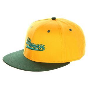 Бейсболка с прямым козырьком  Шишки Yellow/Green Запорожец. Цвет: желтый,зеленый