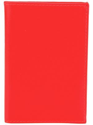 Бумажник дизайна колор-блок Comme Des Garçons Play. Цвет: жёлтый и оранжевый