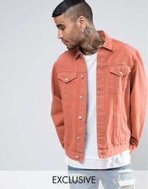 Reclaimed Vintage Оранжевая джинсовая куртка. Цвет: оранжевый