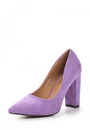 Лоферы Sweet Shoes. Цвет: фиолетовый