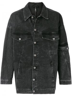 Удлиненная джнсовая куртка Barbara I Gongini. Цвет: чёрный