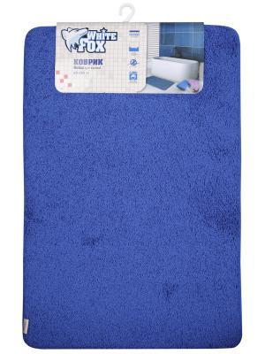 Коврик для ванной WHITE FOX. Цвет: синий