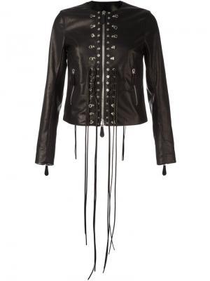 Куртка с аппликацией Marcelo Burlon County Of Milan. Цвет: чёрный