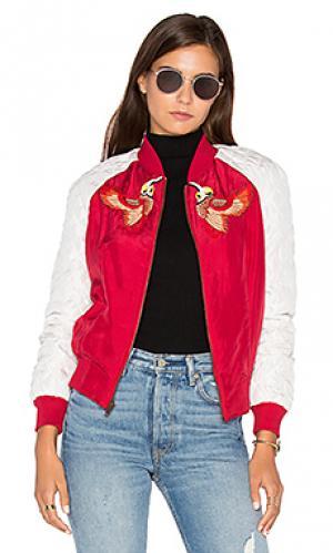 Куртка бомбер bird HEMANT AND NANDITA. Цвет: красный