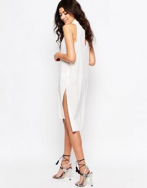 Never Fully Dressed Цельнокройное платье cо свободным воротом и вырезом на спине Ful. Цвет: белый