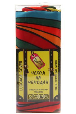 Чехол на чемодан SOVA COVER. Цвет: цветные волокна