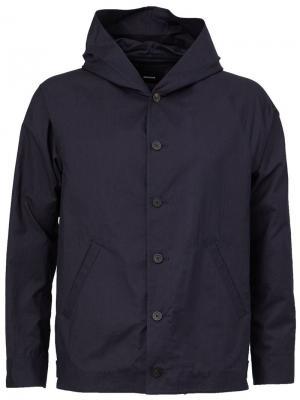 Куртка с капюшоном 08Sircus. Цвет: синий