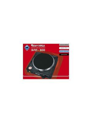 Плита электрическая бытовая настольная Чудесница ЭЛП-800 с 1-й конфоркой, цвет черный. Цвет: черный