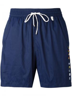 Пляжные шорты со шнурком Loro Piana. Цвет: синий