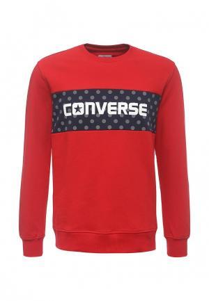 Свитшот Converse. Цвет: красный