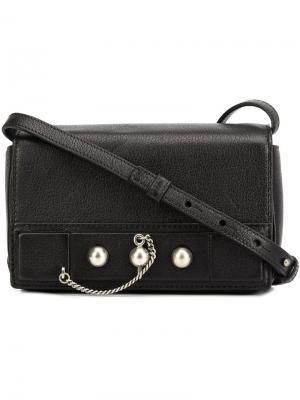 Классическая сумка через плечо Anthony Vaccarello. Цвет: чёрный