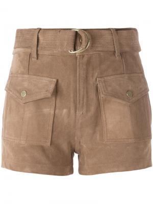 Шорты с накладными карманами Frame Denim. Цвет: коричневый