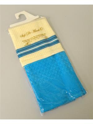 Полотенце Napoli (бирюз.) 45x70 см 1х2 салфетки ваф. Sofi de Marko. Цвет: молочный, голубой