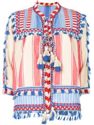 Блузка с кисточками Dodo Bar Or. Цвет: многоцветный