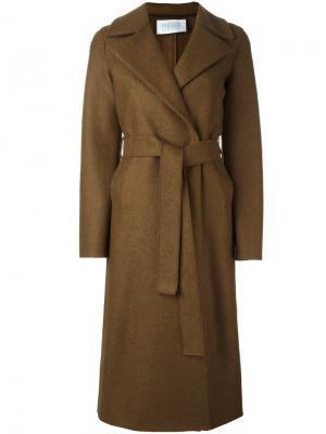 Пальто с поясом Harris Wharf London. Цвет: коричневый