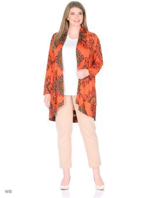 Блузка BERKLINE. Цвет: оранжевый
