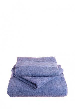 Комплект полотенец 3 шт. Bellehome. Цвет: синий