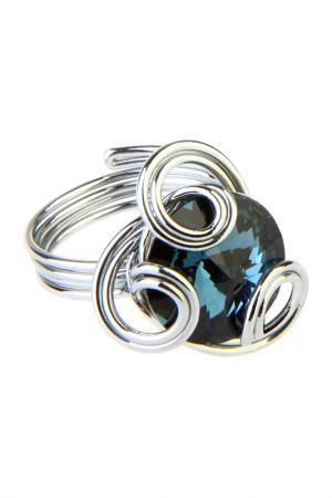 Кольцо Malu. Цвет: синий