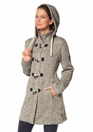 Пальто POLARINO. Цвет: темно-серый