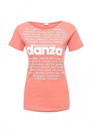 Футболка Dimensione Danza. Цвет: коралловый
