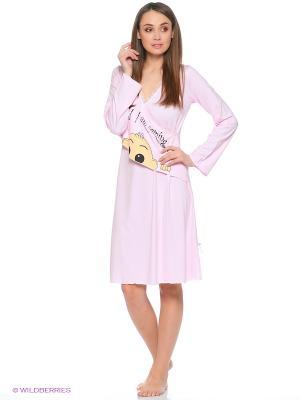 Сорочка для беременных Cascatto. Цвет: розовый