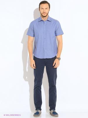 Рубашка KARFLORENS. Цвет: серо-голубой