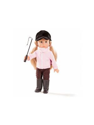 Кукла Миа в костюме наездницы GOTZ. Цвет: коричневый, розовый, черный