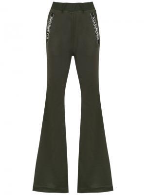 Flared trousers À La Garçonne. Цвет: зелёный