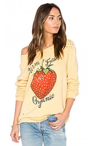 Классический пуловер noleta Lauren Moshi. Цвет: желтый