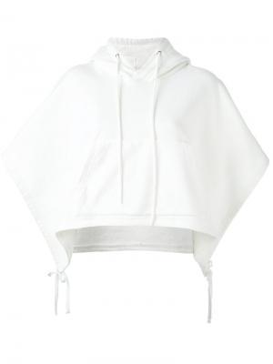 Толстовка с короткими рукавами и капюшоном Facetasm. Цвет: белый