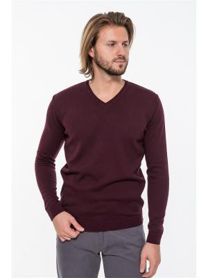 Пуловер Westrenger. Цвет: бордовый