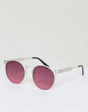 Spitfire Круглые солнцезащитные очки с красными стеклами Postpunk. Цвет: красный