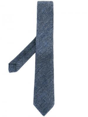 Трикотажный галстук Borrelli. Цвет: синий