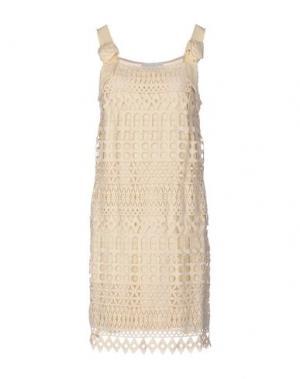 Короткое платье DIDIER PARAKIAN. Цвет: бежевый