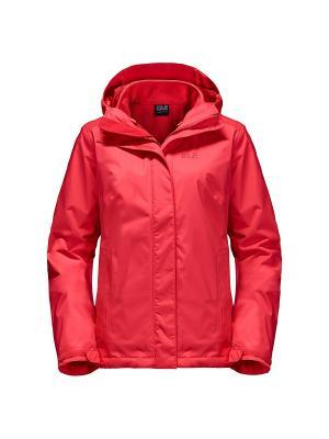 Куртка CRUSH N ICE WOMEN Jack Wolfskin. Цвет: розовый