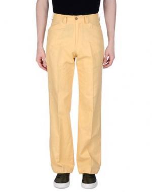 Повседневные брюки MARLBORO CLASSICS. Цвет: желтый